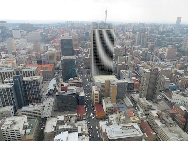 View of Johannesburg, South Africa