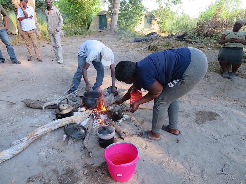 Africa: Setting up camp in Okavango Delta