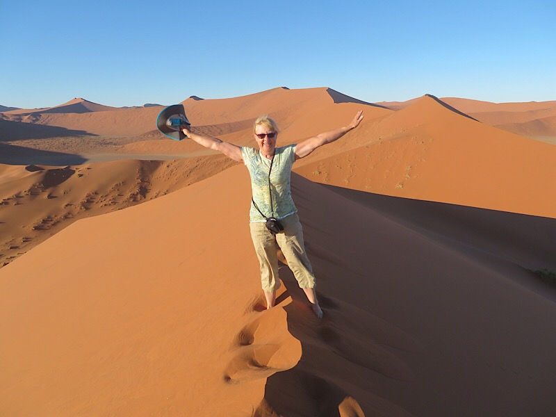 On the top of Dune 45