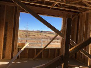 Het uitzicht vanuit de woonkamer