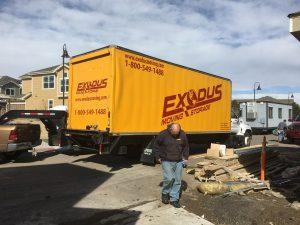 Vrachtwagen voor de verhuizing