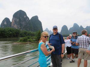 Loek en Gepke op de Xin'an River