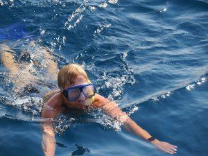 Gepke met een snorkel