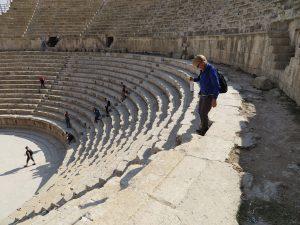 Romeins theater in Jerash, Jordanië
