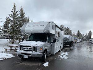 Sneeuw in Banff