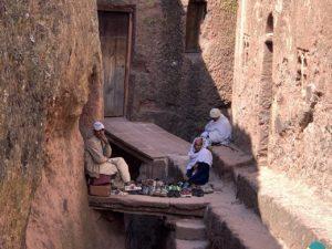 Tussen de kerken in Lalibela