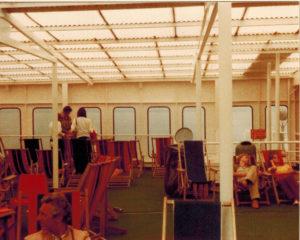 Op de boot naar Zweden