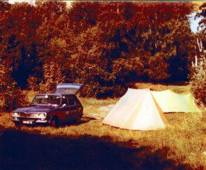 Eerst kampeerplek in Zweden